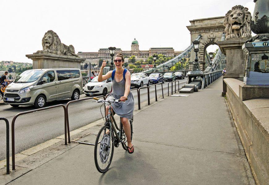Budapest Danube River Views Bike Ride
